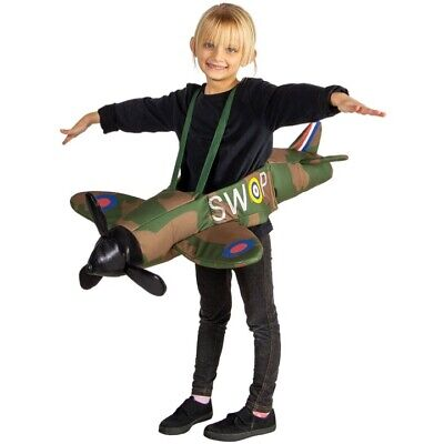 Kids Raf Spitfire Ride On Costume Army Soldier Boys Girls Outfit Fancy Dress  • 29.99£