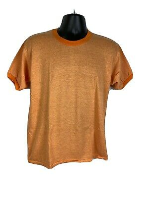 $ CDN27.40 • Buy Vintage Orange Ringer T-shirt Russell Athletic NOS 60s Heather 50/50 Cotton Poly
