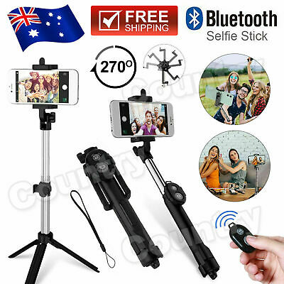 AU12.50 • Buy Unipod Selfie Stick Handheld Tripod Bluetooth Shutter For IPhone 11 Pro Samsung