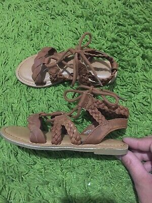 Next Gladiator Tan Sandals For Girls Size 11 • 6.99£