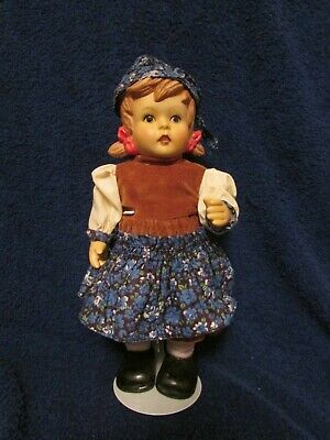 $ CDN25 • Buy Vintage Handpainted Bisque Porcelain Alpine Girl Doll