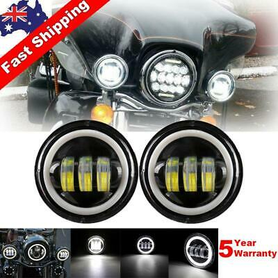 AU56.23 • Buy Pair 4.5 Inch LED Fog Light Round Spot 60W LED Work Light For Harley Motorcycle