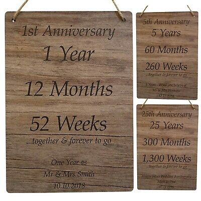 Personalised Anniversary Gifts For Husband & Wife Parents Grandparents Couples • 4.99£