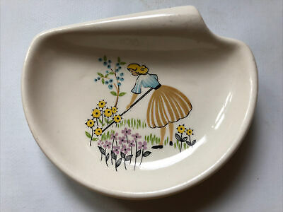 1950's Green Fingers Beswick Side Bowl Butter Plate Pin Dish • 30£