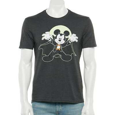 $19.95 • Buy DISNEY MICKEY MOUSE GLOW IN THE DARK Mens HALLOWEEN SHIRT SIZE S M L NEW