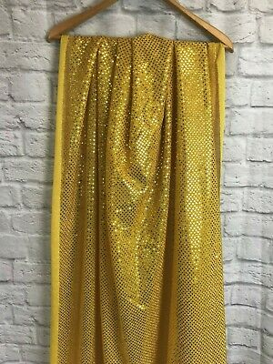 Glitter Sparkly Gold Fabric 14 Metres, Great For Fancy Dress/Costumes • 5£