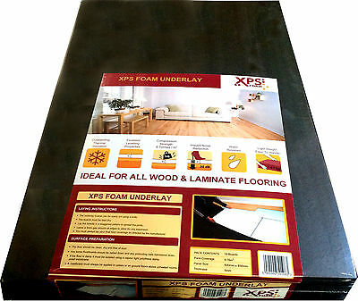 XPS Foam 5mm Laminate/ Wood Flooring Underlay • 20£