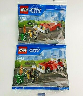 2x Lego City Fire Fighter Engine Car Promo Set 30347 Small Polybag Age 5-12 New • 9.99£