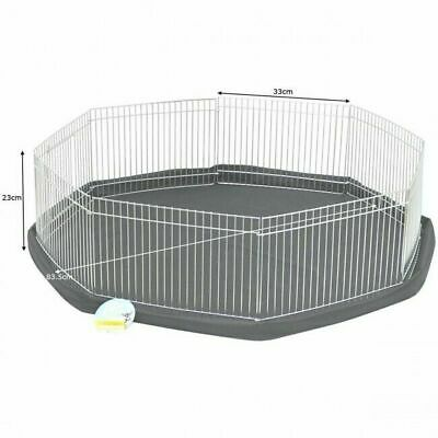 Hamster Guinea Pig Rabbit Run Safe Enclosure Indoor Outdoor Pet Play Pen Folding • 26£
