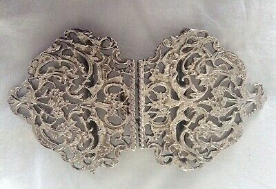 Pretty Silver Plated Floral Themed (Nurse's)Belt Buckle .V.G.C! • 8.50£