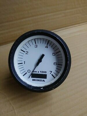AU133.58 • Buy Honda White Face Analogue Outboard Tachometer RPM Gauge All HP Hourmeter
