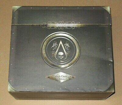 Assassins Creed IV Black Flag Black Chest Edition UK PAL Limited Collectors PS3 • 159.99£