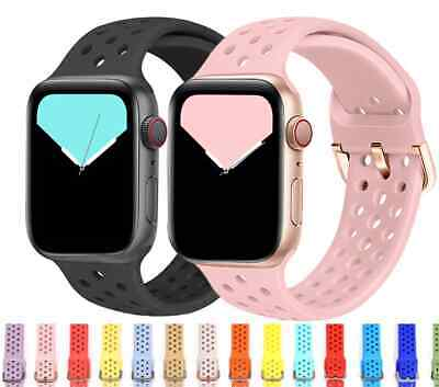 AU6.95 • Buy For Apple Watch IWatch Band Series 7 SE 6 5 4 3 2 Sports Silicone Bracelet Strap