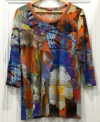 AU69 • Buy Save The Queen Top XL Made In Italy Long Sleeve Multi Colored Ruffle Detail