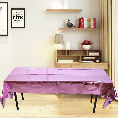AU10.70 • Buy Foil Tablecloth Dining Table Cloth Cover Wedding Party Christmas Banquet Decor