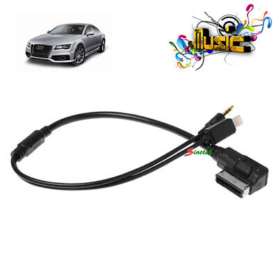Audi VW IPod IPhone 5 6 Car Cable AUX AMI MMI MDI Audio Interface Lead Connector • 6.99£