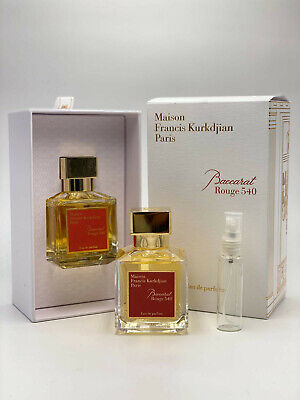Maison Francis Kurkdjian Baccarat Rouge 540 EDP 10ml Travel Spray Sample • 11.99£