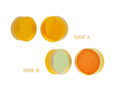 $8.99 • Buy Yellow/Aqua Iridescent Double Sided Glass Plugs (PG-552) Gauges PICK YOUR SIZE