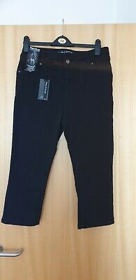 Ladies Black Simply Be Shape And Sculpt Crop Jeans 16 New • 2.50£
