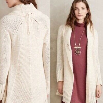 $ CDN44.58 • Buy Angel Of The North Anthropologie Womens Ivory Fidus Cardigan Sweater Medium