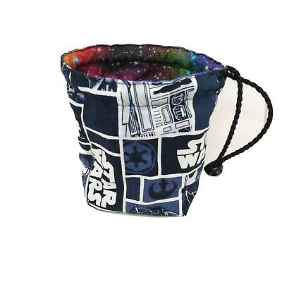 Star Wars Dice Bag, Reversible, Galaxy, Freestanding, Drawstring Tile Pouch • 8.99£