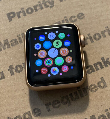 $ CDN204.81 • Buy Apple Watch Series 3 38mm Gold Aluminum Case (GPS + Cellular) *Tested, Works*