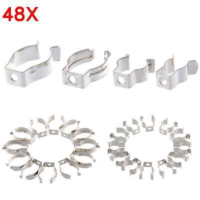 48 X Assorted Tool Spring Terry Clips Heavy Duty Storage / Shed Garage • 6.69£