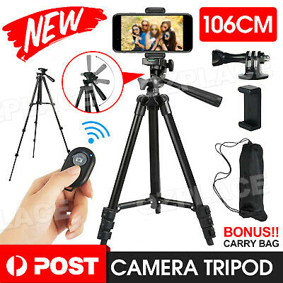 AU16.95 • Buy AU Professional Camera Tripod Stand Mount+ Phone Holder For Phone IPhone Samsung