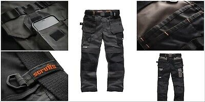 Scruffs Pro Flex Trousers With Holster Pockets Workwear Trade 28 -40  FULL RANGE • 52.99£