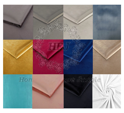 Upholstery Plush French Velvet Fabric Soft 55 Inch Wide Curtains Sofa 12 Colours • 7.49£