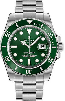 $ CDN21507.16 • Buy Rolex Submariner Hulk 116610LV Scrambled Serial Green Dial Men's Watch 40mm