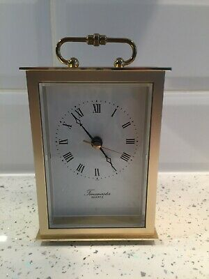 Timemaster Quartz Vintage Carriage Clock Gold Colour Roman Numerals • 10£