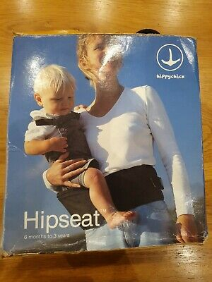 HIPPYCHICK Black Hip Seat (Baby / Toddler Carrier  6m -3 Years) • 14.99£