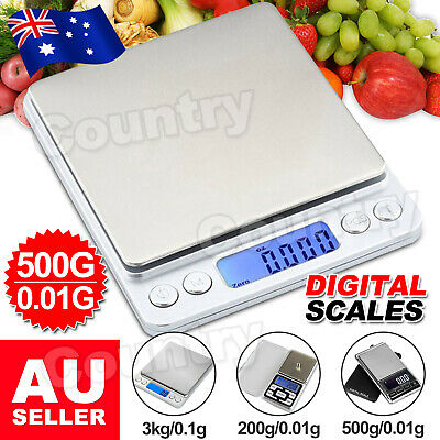 AU14.95 • Buy NEW 500g 0.01 DIGITAL POCKET SCALES JEWELLERY ELECTRONIC Milligram Micro Mg