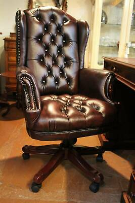 AU1495 • Buy A High Back Chesterfield Office Chair In Genuine 100% Leather - Various Colours