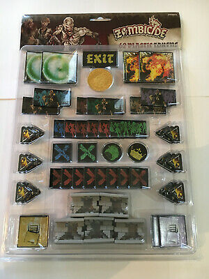 AU29.95 • Buy Zombicide, Black Plague/Green Horde Plastic Token Pack, Still Sealed.