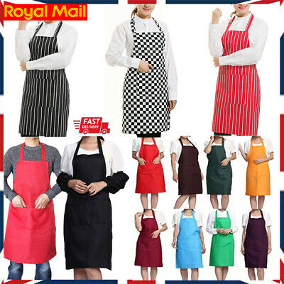 £3.77 • Buy Chefs Apron With Pockets, BBQ, Baking & Catering Apron For Men Women Ladies UK