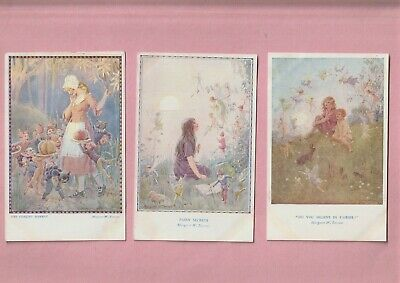 Children By Margaret Tarrant, Fairy Hours Series, 3 Medici Postcard, Fairies • 4.99£