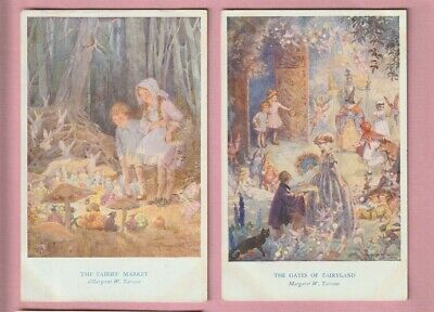 Children By Margaret Tarrant, Fairy Hours, 2 Medici Postcard, Fairies • 3.99£
