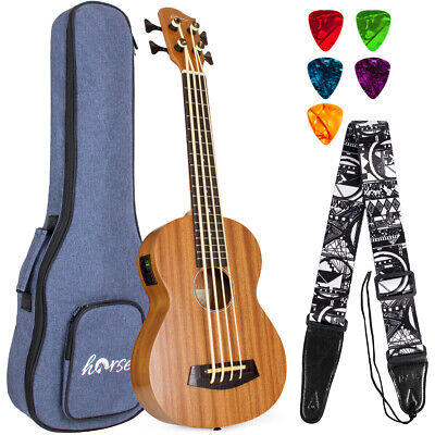 AU132.99 • Buy Electric Bass Ukulele 30 Inch Ukelele Bass Sapele For Beginer W/Bag Tuner Strap