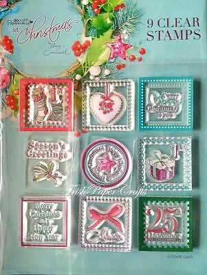 Docrafts Papermania 9 Clear Mini Stamps – At Christmas By Lucy Cromwell New  • 1.95£