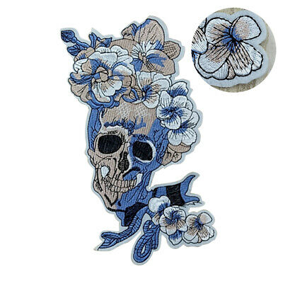 Embroidery Sew Iron On Patch Badge Skull Flower Classic Applique Transfer #W1G • 3.99£