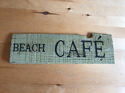 Beach Cafe Wooden Sign Shabby Chic • 9£