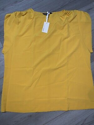 Womens Mustard Casual Top Size 16 Bnwt • 3£