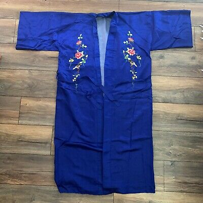 $85 • Buy Vintage Silver Lake Authentic Chinese 100% Pure Silk Kimono Robe One Size
