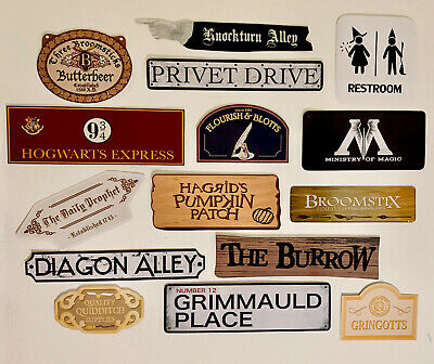 Harry Potter Party Decoration Set - 16 Signs & Arrows Laminated*Birthday*Wedding • 7.99£