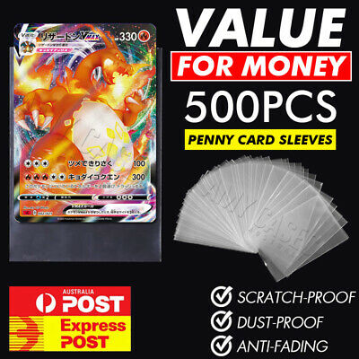 AU18.98 • Buy Ultra Soft Trading Card Sleeves Clear Penny Protector 100PCS Pokemon NBA YuGiOh
