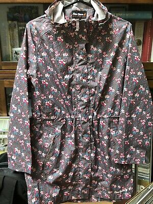 Peter Storm Womens Lightweight Grey Floral  Cagoule Size 10 • 8£