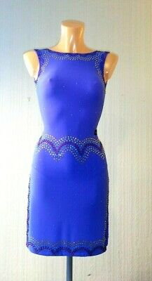 £265 • Buy Latin Competition  Dress /Ice Skating Dress/Lilac Competition Dress/Handmade
