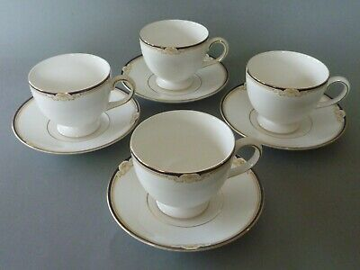 Wedgwood Cavendish - 4 Tea Cups & Saucers • 22£